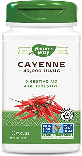 Nature s Way Cayenne Capsules, Pack of 3 Packaging May Vary