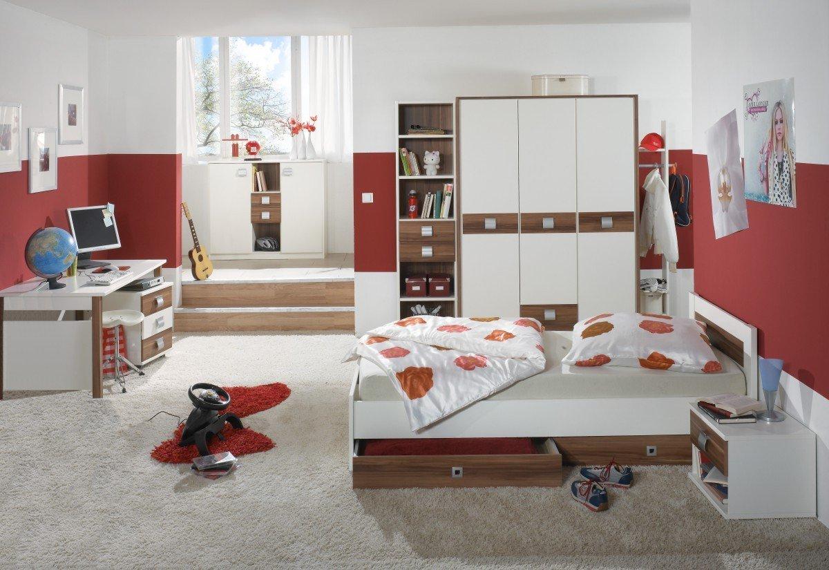 Dreams4Home Jugendzimmer 'Vamo', Kinderzimmer, Kinderschreibtisch, Schreibtisch, Kinderzimmerset, Einlegeböden:ohne Einlegeböden