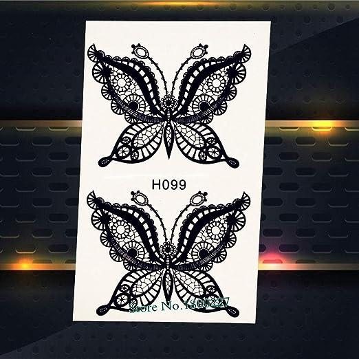 Yyoutop Arco de Encaje Bowknot Pegatinas de Tatuaje para Las ...