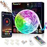 Tiras LED de Bluetooth, Romwish 5M Luces de Tira LED Controlada por Smartphone APP, Sync to Music, SMD 5050 RGB 300 LED…