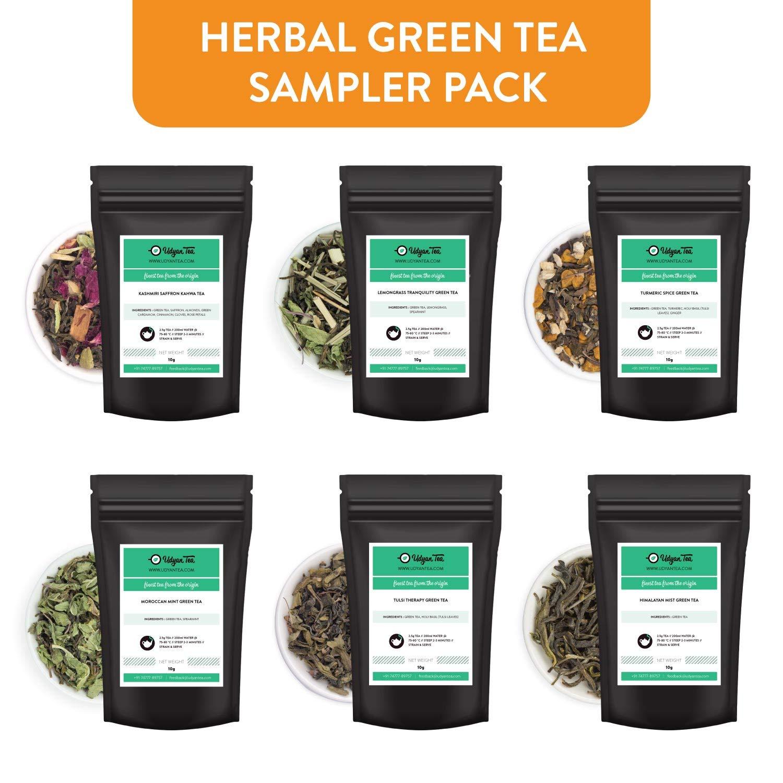 UDYAN Herbal Green Tea Sampler Pack of 6 Varieties, 10g Each (B07QJ6DT2H) Amazon Price History, Amazon Price Tracker