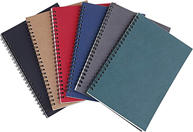 Details about  /A5 Mulicolor Colorful Spiral Coil Plastic Cover Notebook//Journal School Notepad
