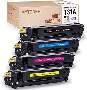 MYTONER Remanufactured Toner Cartridge Replacement for HP 131A 131X CF210A CF210A CF211A CF212A CF213A (Black,Cyan,Magenta,Yellow)