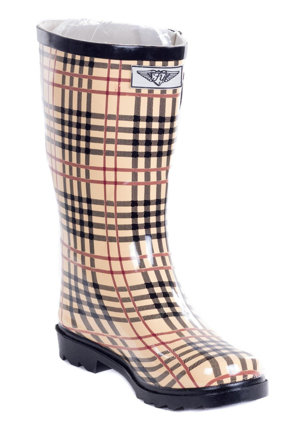 Forever Young Women Rain Boots, Mid-Calf 11'' Rubber Booties