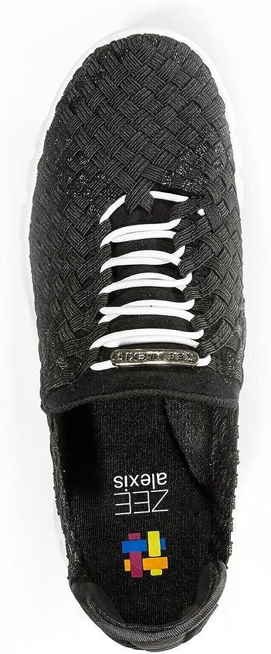 Zee Alexis Women's Danielle Sneaker Black Metallic/White Bottom