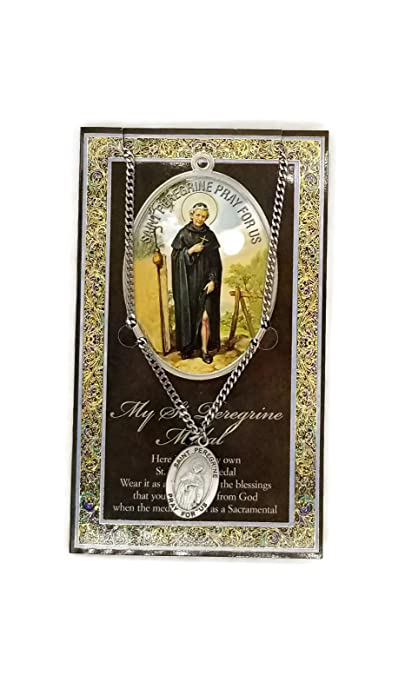 8c921242e22 6 10/18) Saint Peregrine Genuine Pewter Medal with Stainless Chain ...