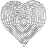 BODHI200012PCS/set fustelle stencil per DIY scrapbooking album biglietti modello goffratura a forma di cuore