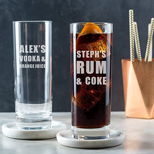 Personalized Highball Glass Vodka Alcohol Gifts For Women Birthday