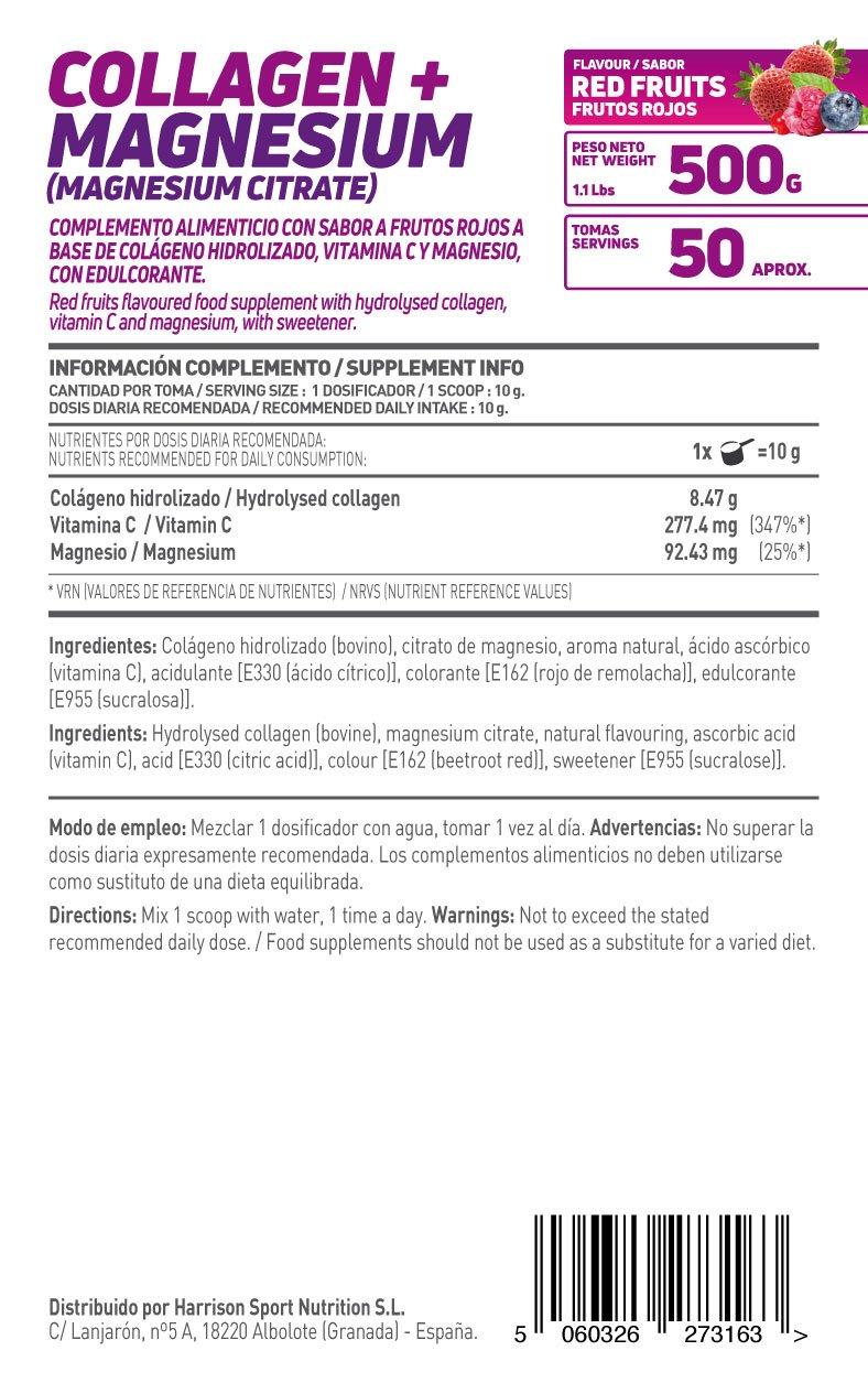 HSN Essentials - Colágeno Hidrolizado + Magnesio 2.0 - Sabor Frutos Rojos - En Polvo 500 g: Amazon.es: Salud y cuidado personal