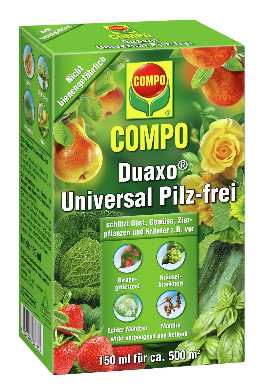 COMPO Duaxo Universal Pilz-frei, Bekämpfung von Pilzkrankheiten an Obst, Gemüse, Zierpflanzen und Kräutern, Konzentrat inkl. Messbecher, 150 ml product image