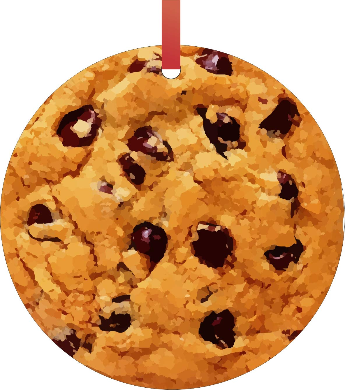 Amazon Com Max Wilder Chocolate Chip Cookie Double Sided Round