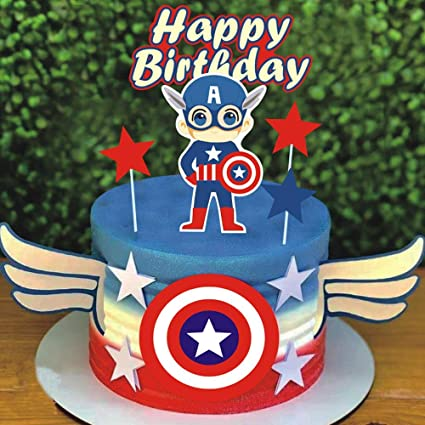 Awesome Amazon Com Shami Happy Birthday Cake Topper Cartoon Theme Cake Funny Birthday Cards Online Elaedamsfinfo