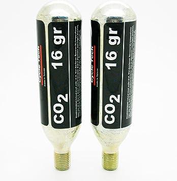 2x Bombona Botella de CO2 16g Inflado Rueda Neumatico Bicicleta MTB Carretera 3066_2: Amazon.es: Deportes y aire libre