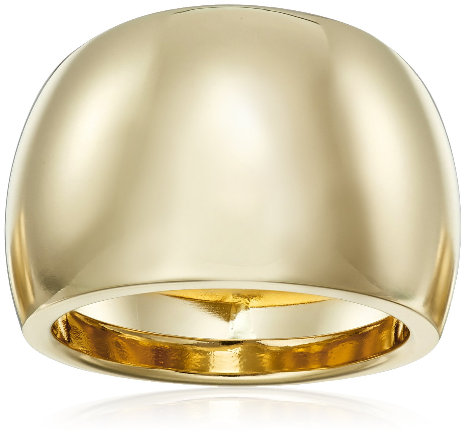 14k Yellow Gold Polish Dome Ring, Size 7