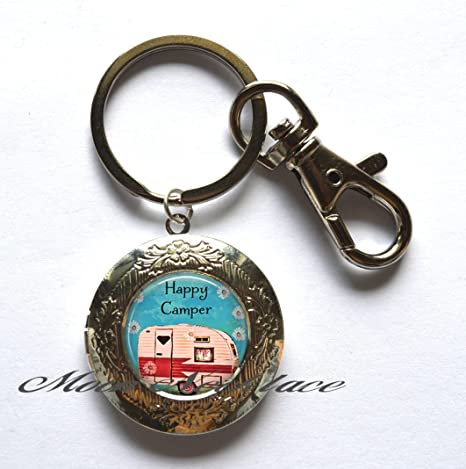 Happy Camper Locket llavero, Happy Camper Locket llavero ...