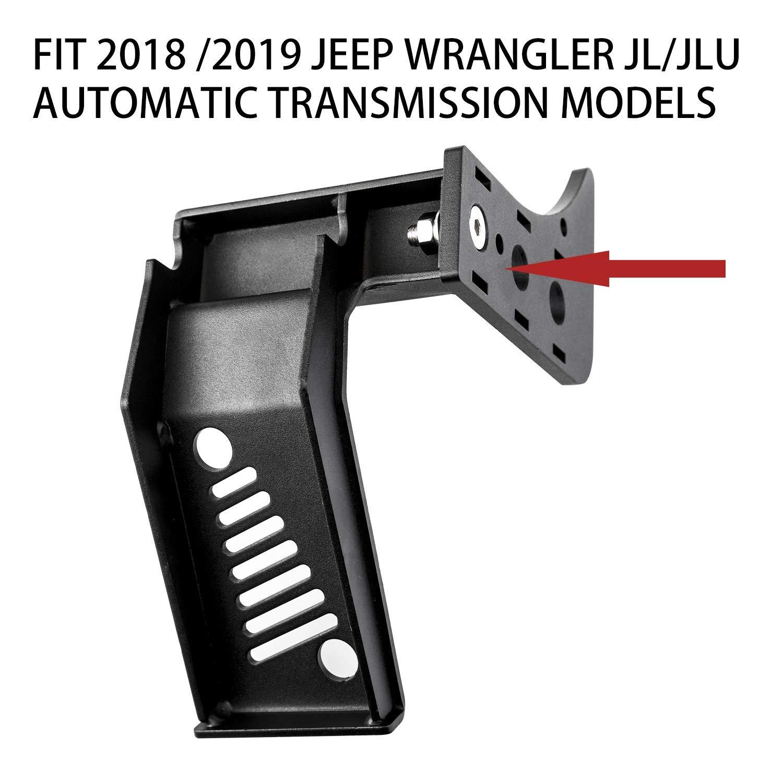 TOOGOO Dead Pedal Left Side Foot Rest Pedal for 2018 2019 JL /& JLU Driver Side Automatic Transmission Models