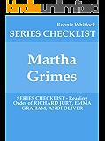 Martha Grimes - SERIES CHECKLIST - Reading Order of RICHARD JURY, EMMA GRAHAM, ANDI OLIVER