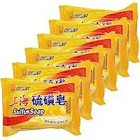 BEE & FLOWER Shanghai Sulfur Soap 10% Sulfur Soap Face and Body Bar Soaps 3.4 Oz (6 Packs)