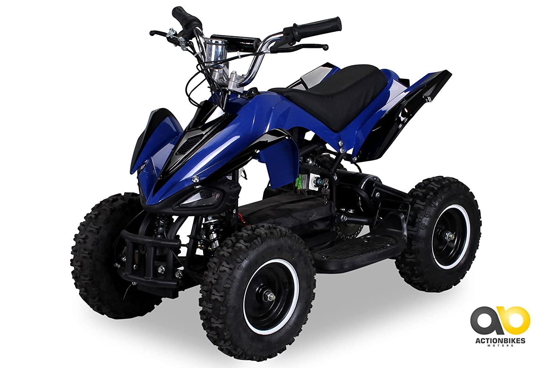 Mini Electric Children Racer 800 Watt Atv Pocket Quad Blue Amazon Yamaha Grizzly 125 Wiring Schematic Car Motorbike