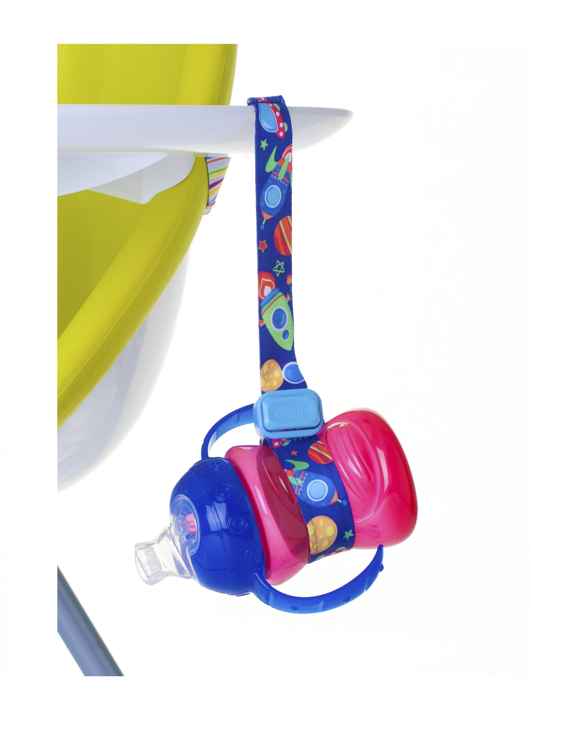 Nuby Keepeez Adjustable Bottle/Cup Strap, Blue