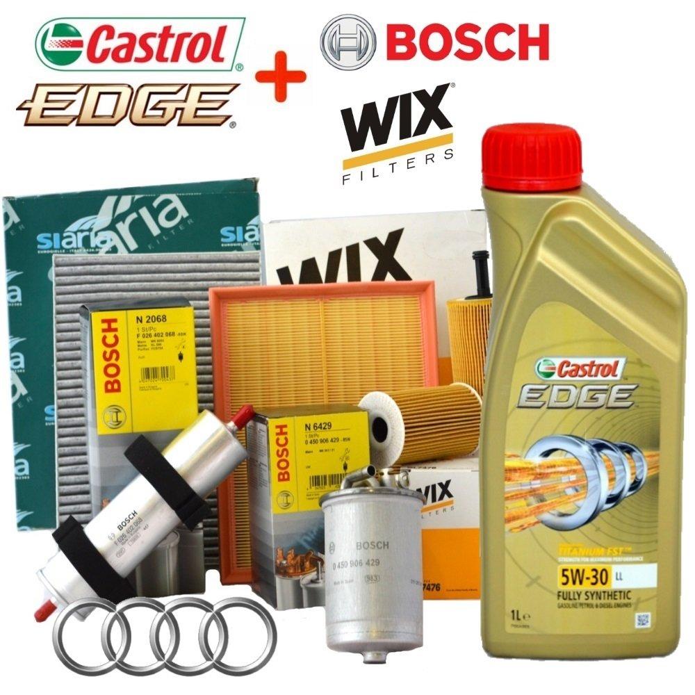 Kit Revision 4 Filtros Varios + 5 L Aceite Castrol Edge 5W30: Amazon.es: Coche y moto