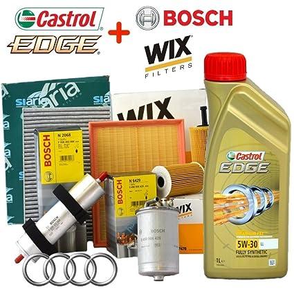 Kit Revision 4 Filtros Varios + 5 L Aceite Castrol Edge 5W30