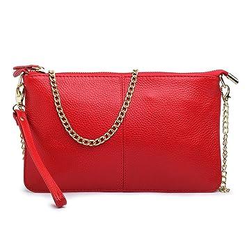 Monedero de cuero cruzado con correa de cadena para las mujeres Carteras bolso de hombro Crossbody: Amazon.es: Equipaje