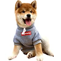 Dog Hoodie Pet Clothes Cotton Dog Sweatshirt Stylish Streetwear Sweater Pullover Cat Clothes Warm Costume for Puppy(S…