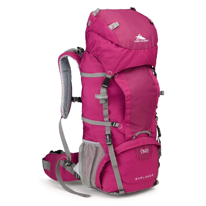 High Sierra Womens Explorer 50 Internal Frame Pack, Boysenberry/Ash by High Sierra
