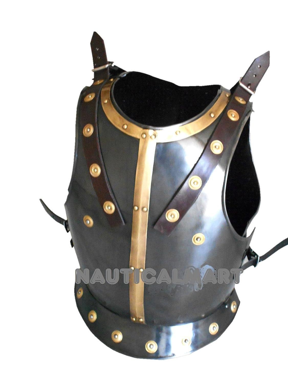 NAUTICALMART Breastplate中世Armor Costume withブラックアンティーク仕上げ   B01HTL5S4A