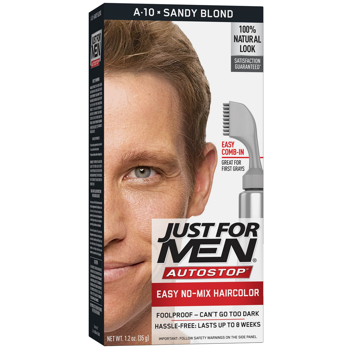 Just For Men AutoStop Men's Comb-In Hair Color, Sandy Blond 011509043146