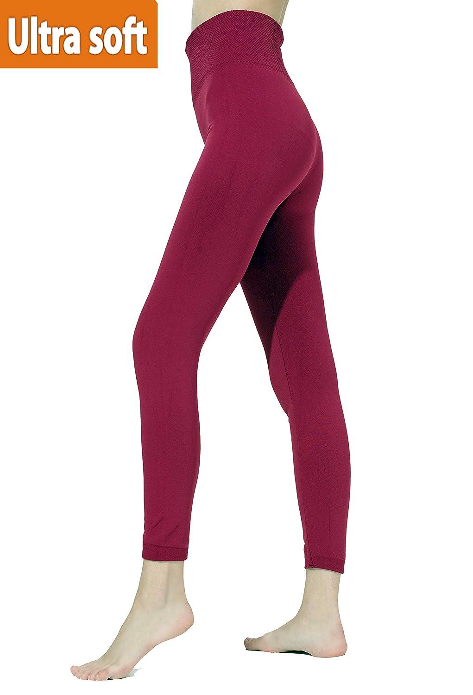 quanlityfirst Women's Fleece Lined Leggings High Waist Seamless Leggings