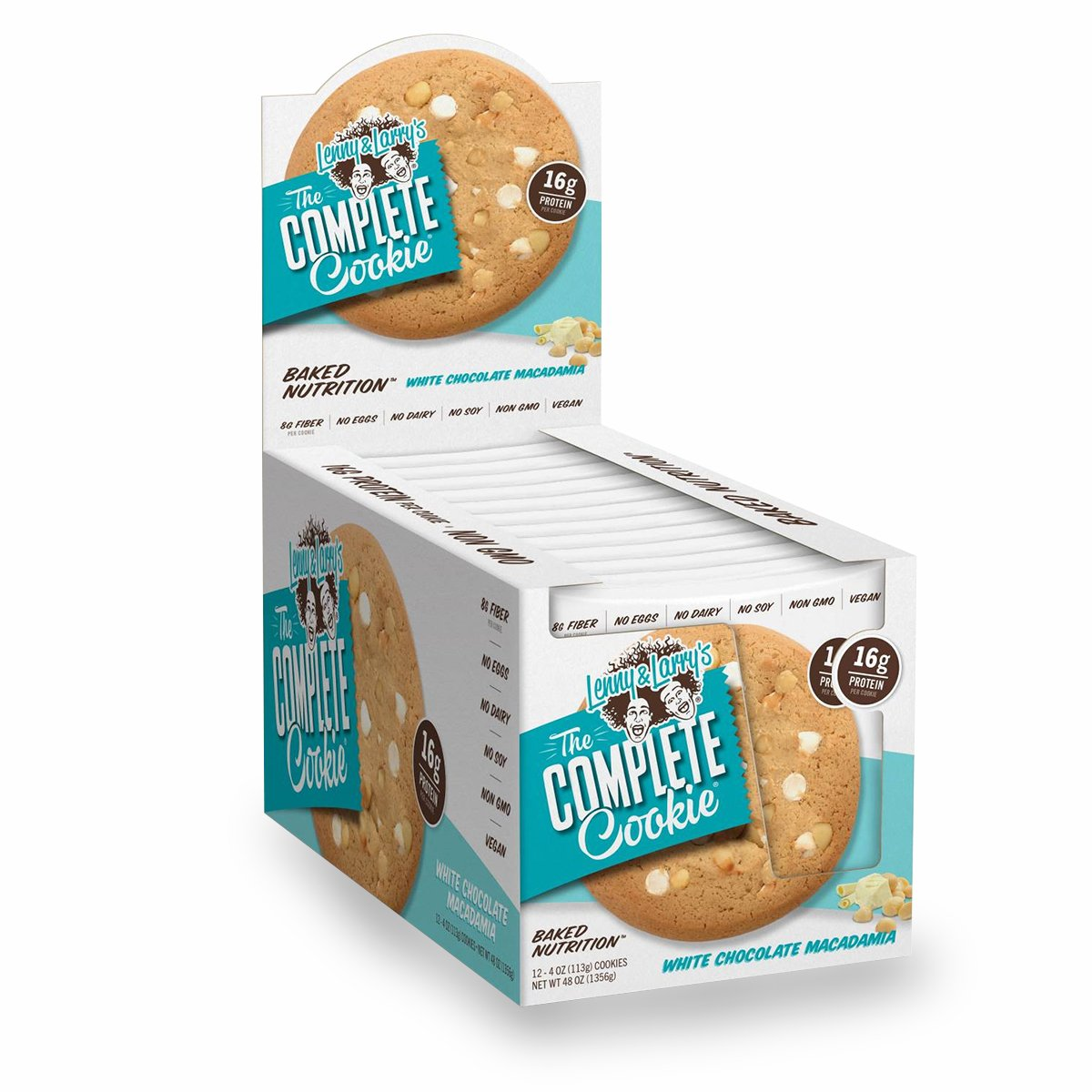 Lenny and Larry's White Chocolate Macadamia The Complete Cookie, 2.4 Pound