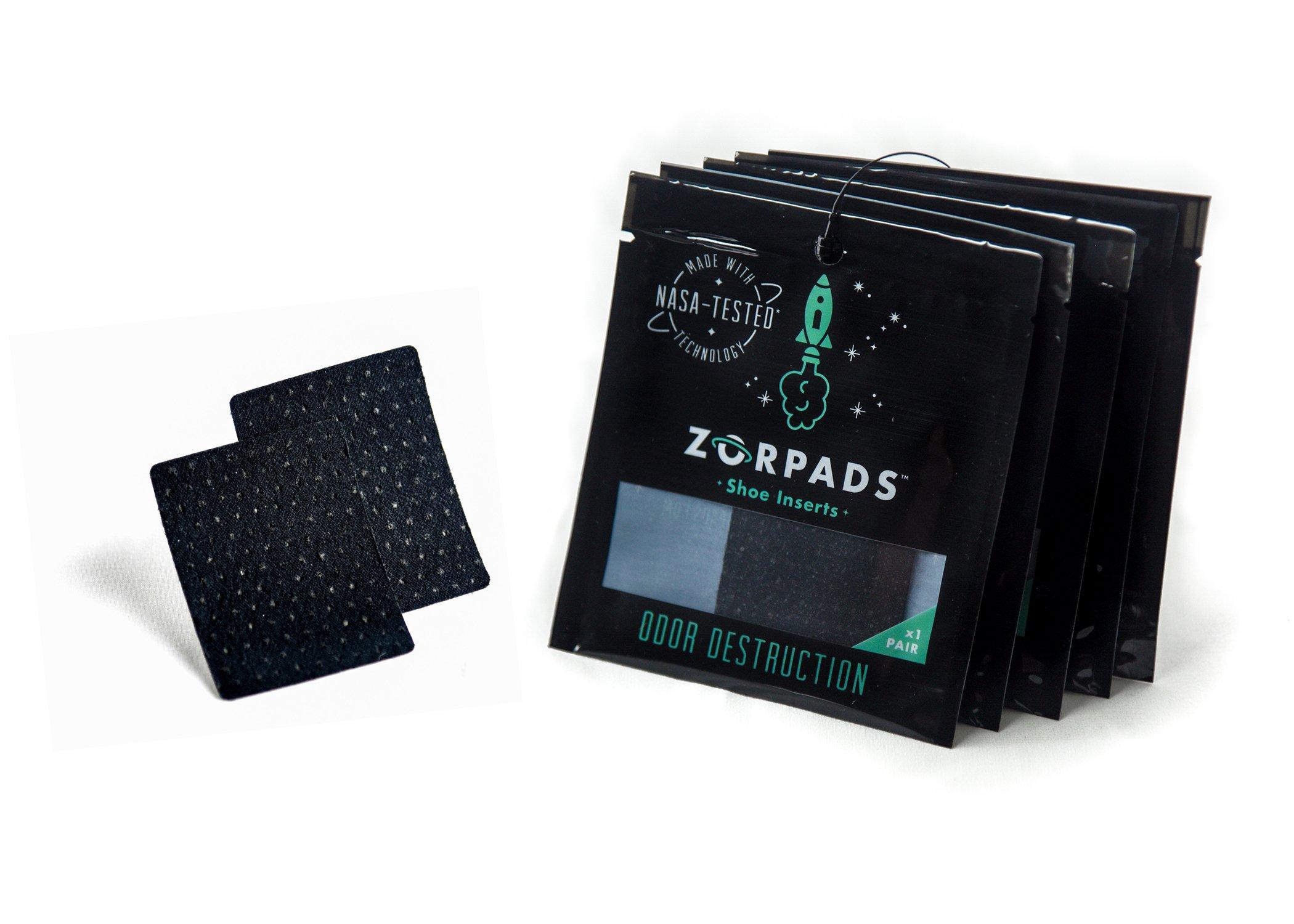Zorpads Odor Eliminating Shoe Inserts Five Pack