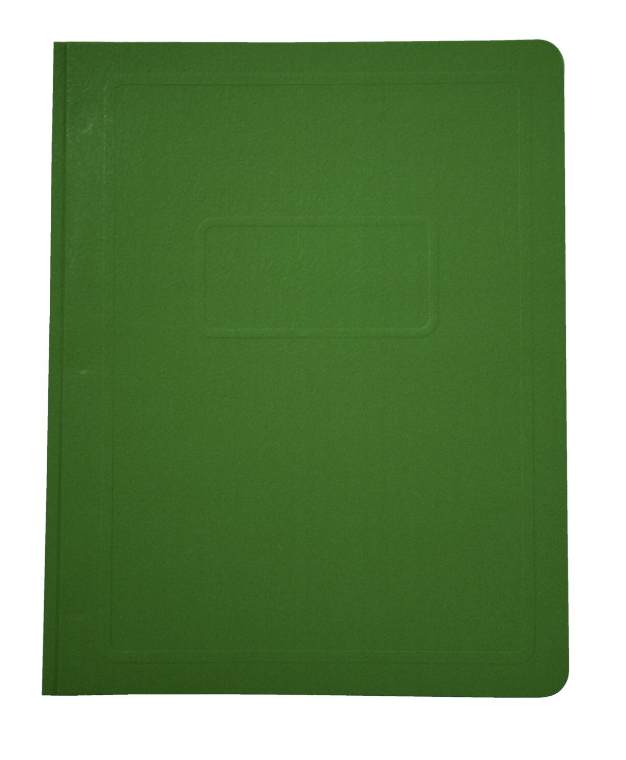 School Smart Report Cover with 3 Hole Fastener Insert - 8 1/2 x 11 inch - Pack of 25 - Light Green