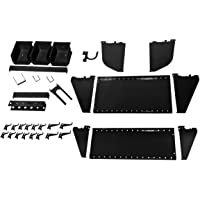 Wall Control KT-400-WRK B Slotted Tool Board Workstation Accessory Kit for Pegboard and Slotted Tool Board, Black