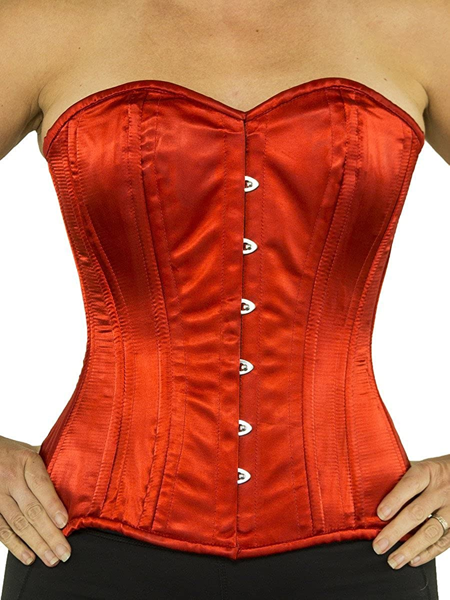 Victorian Style Corsets- Custom, Costume & Patterns Orchard Corset CS-511 Overbust Satin Corset $59.43 AT vintagedancer.com