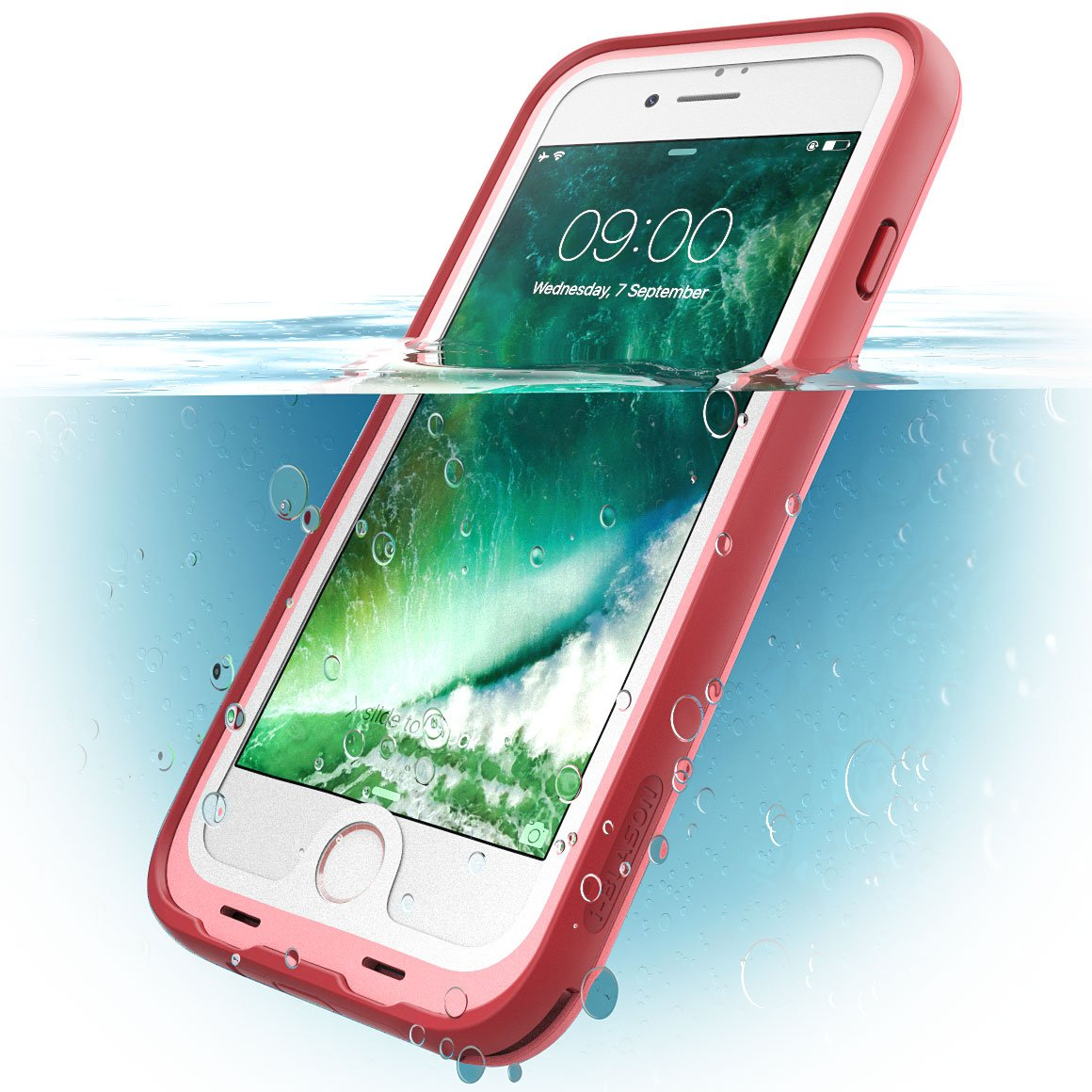 7f45682dde74b i-Blason Case for iPhone 7 2016 / iPhone 8 2017 Release, [Aegis] Waterproof  Full-Body Rugged Case with Built-in Screen Protector (Pink)