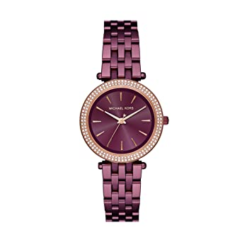 MICHAEL KORS Mini Darci Pavé Plum-Tone Watch MK3725