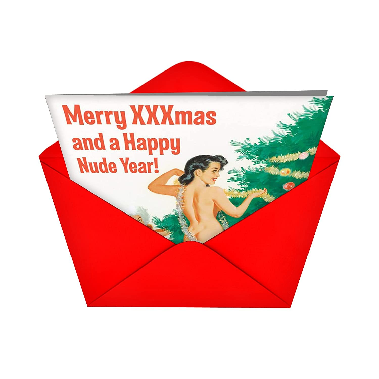 Amazon 1905 happy nude year funny new year greeting card amazon 1905 happy nude year funny new year greeting card with 5 x 7 envelope by nobleworks office products kristyandbryce Images