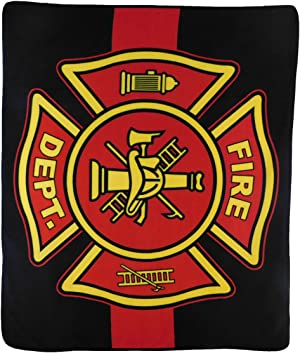 Infinity Republic - Fire Department Fire Fighters Soft Fleece Throw Blanket - 50x60 Perfect for Living Rooms, bedrooms, Kids' Rooms, Outdoors!