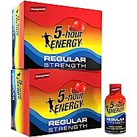 5-hour ENERGY Shot, Regular Strength Pomegranate, 1.93 Ounce, 24 Count