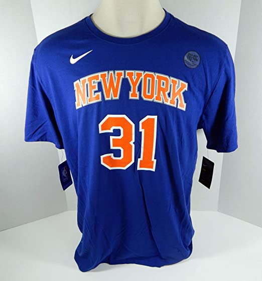 Mens New York Knicks Ron Baker #31 DriFit Blue T-Shirt M Nike at ...