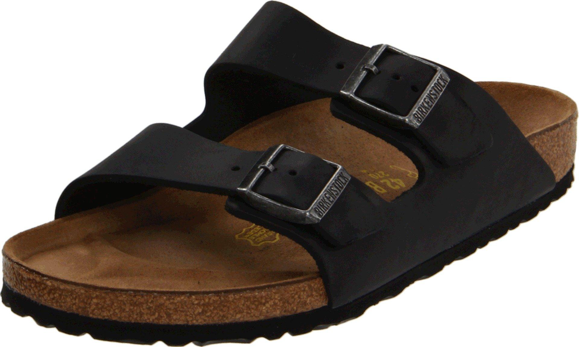 Birkenstock Unisex Arizona Slide Fashion Sandals, Black Leather, 36 M