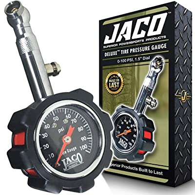 JACO Deluxe Tire Pressure Gauge - 100 PSI: Automotive