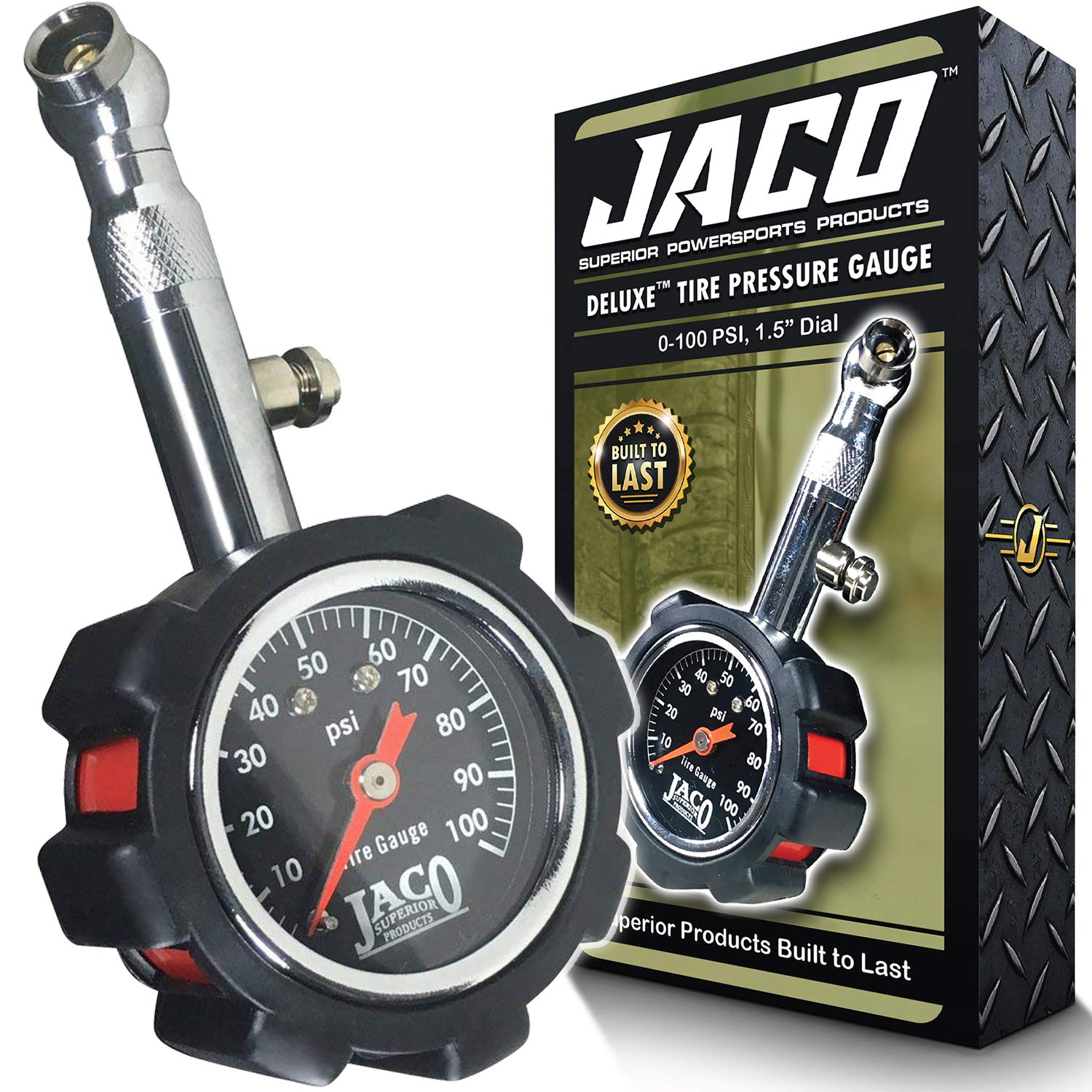 JACO Deluxe Tire Pressure Gauge - 100 PSI by JACO Superior Products