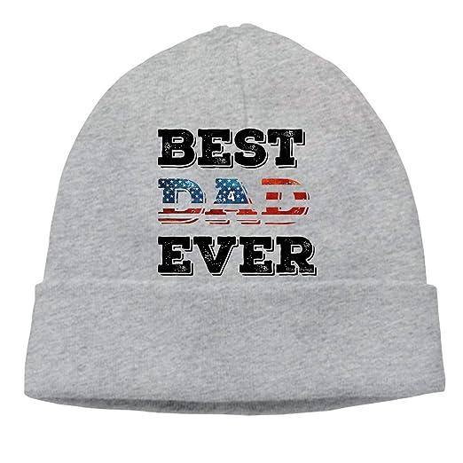 2b2c7eb8197 Image Unavailable. Image not available for. Color  Elvira Jasper Beanie Best  Dad Ever Men Women - Unisex Cuffed Plain Skull Knit Hat Cap