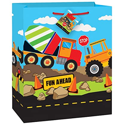 Image Unavailable Not Available For Color Construction Truck Birthday Gift Bag