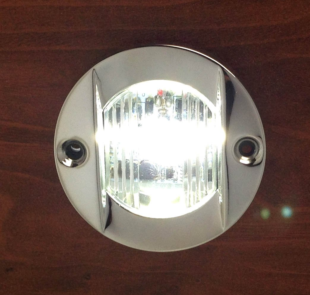 Pactrade Marine Boat Transom LED Stern Light Stainless Steel Splash Proof Flush Mount