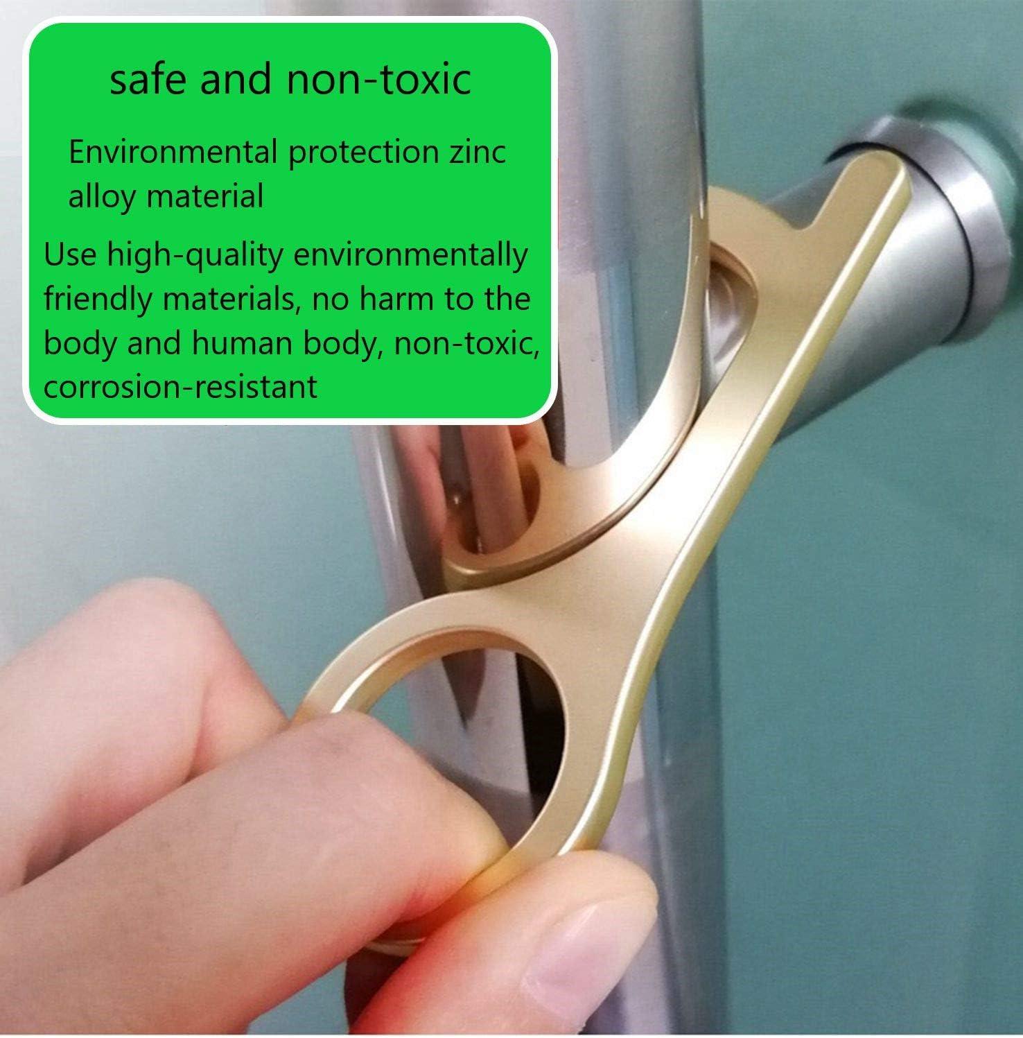 Eastor la Oficina 3 Pack llaves de mano sin contacto para puerta con llave Abrepuertas sin contacto Uso para el Hogar el Elevador